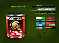 """Эмаль алкидная """"СПЕКТР"""" ВАГОНКА ПФ-115С Светло-Зеленая 0,9 кг"""