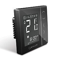 """SALUS"" VS10B Цифровой регулятор температуры 4in1, черный,скрытого монтажа, 230V"