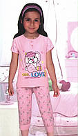 Пижама-капри с зайчиком в кепке
