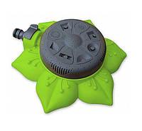 Оригинальный дождеватель для полива газона, «Подсолнух» 8111G, на 8 режимов полива, зеленый
