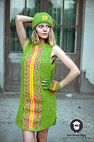 Шерстяное платье ручной работы