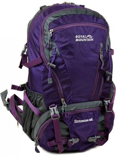 Красивый туристический рюкзак 40 л. Royal Mountain 8421 violet фиолетовый