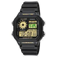 Мужские японские часы CASIO  AE-1200WH-1B