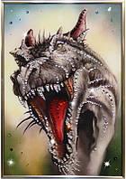 Хрустальная картина из страз Свирепый дракон