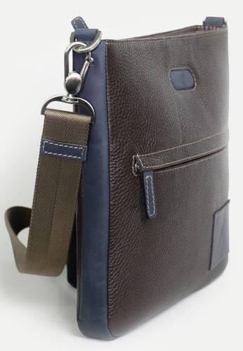Лаконичная мужская сумка-почтальон из натуральной кожи ISSA HARA В10-05 (12-33)