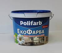 Polifarb Акриловая краска белоснежная Экофарба, 14 кг