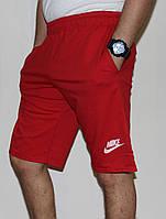 Мужские трикотажные шорты Nike красные