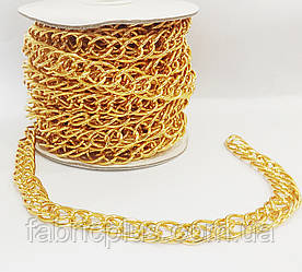 Цепь  декоративная   16*9мм  овал  двойной   золото   J-грань