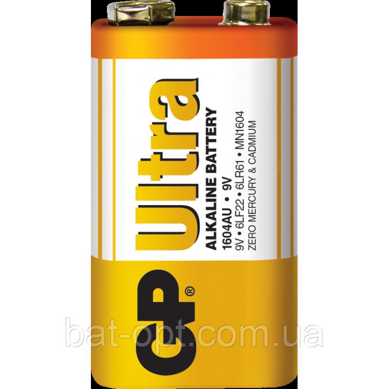 Батарейка щелочная GP 1604AU-S1 Ultra Alkaline 6LR61 9V крона (трей)