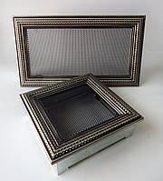 Каминная вентиляционная решетка Rattan серебрянная