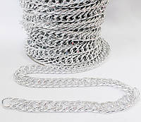 Цепь  декоративная   16*9мм  овал  двойной  никель   L-грань