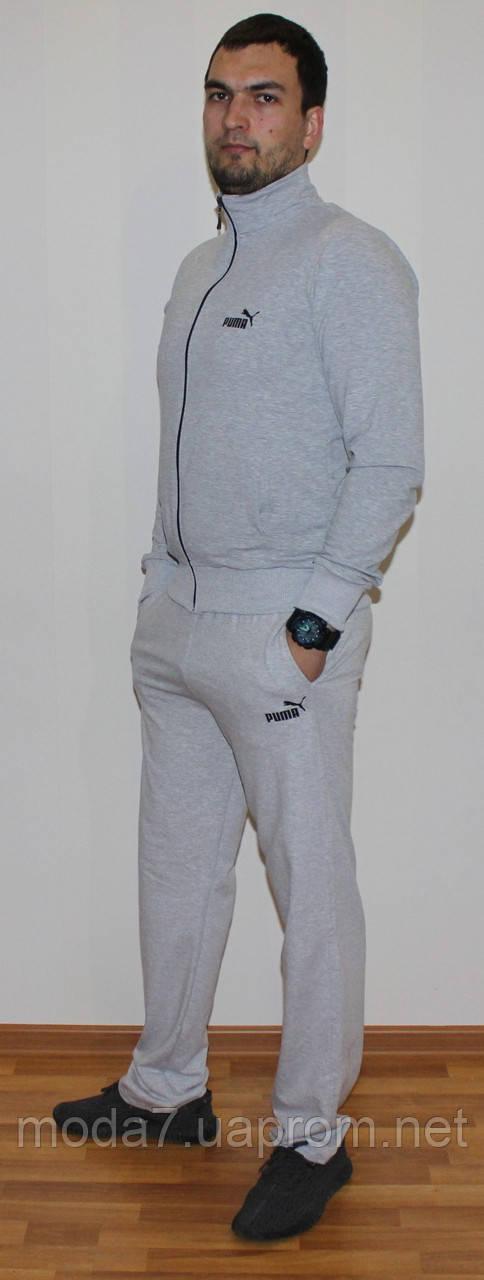 Мужской спортивный костюм Puma серый Турция реплика