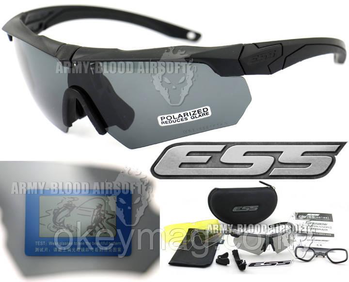 Тактичні поляризовані окуляри з 4 лінзами ESS Crossbow Polarized