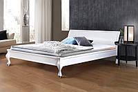 """Кровать  деревяная двуспальная """"Николь"""" белая"""