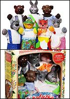 """Кукольный театр """"РУКАВИЧКА"""" (премиум упаковка, 7 персонажей) В153"""