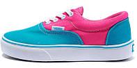 Женские кеды Vans ERA Pink/Blue, Женские кеды, ванс