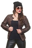 Укороченная женская куртка на тонком синтепоне