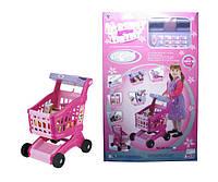 Детская тележка для покупок на батарейках с продуктами, XS-600A