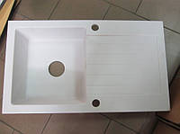 Мойка кухонная гранитная Kuchinox Pop 44 х 76 (белый)
