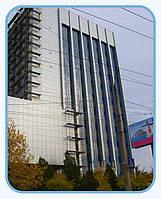 Устройство вентилируемого фасада композитных панелей