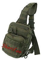 Рюкзак через плечо малый  оливковый 8 литров Assault MIL-TEC  Olive, 14059101