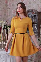 Клешное короткое женское платье