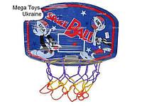 Баскетбольный щит с кольцом и сеткой, деревянный, фото 1