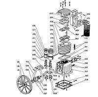 Запчасти на компрессор с головой ABAC B 5900/B (5300000)