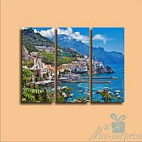 Модульная картина Триптих Италия из 3 модулей