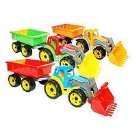 Трактор с прицепом и ковшом 3688 Технок