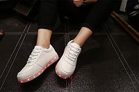 Лед кроссовки светящиеся LED белые