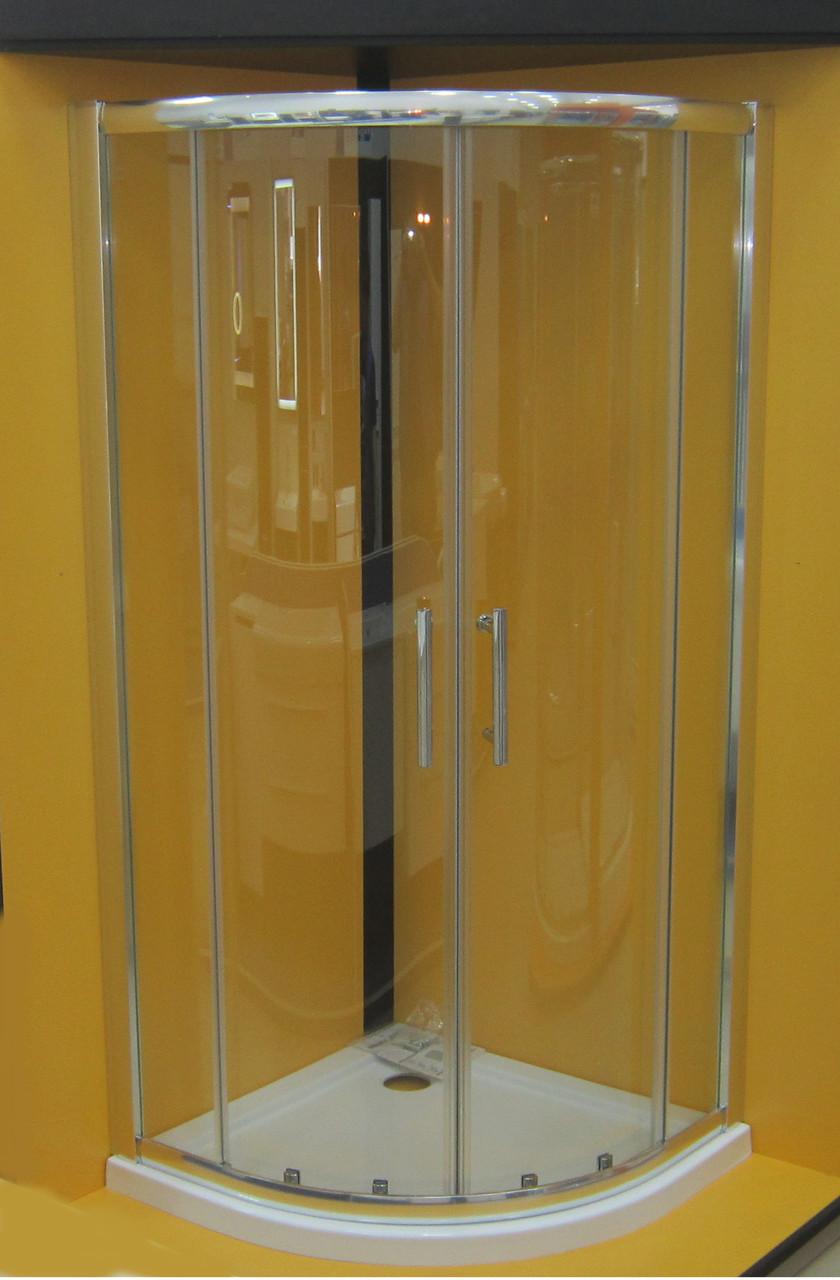 Душевая кабина полукруглая Vilarte QU-90 90x90x185