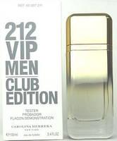 Carolina Herrera 212 Vip Men Club Edition Тестер edt 100 ml. m оригинал