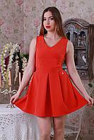 Оригинальное платье красного цвета