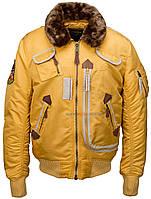 Оригинальная куртка пилот Injector Alpha Industries, США (желтая)