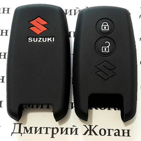 Чохол (чорний, силіконовий) для смарт ключа Suzuki (Сузукі) 2 кнопки, фото 2
