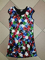 Нарядное детское платье в пайетках