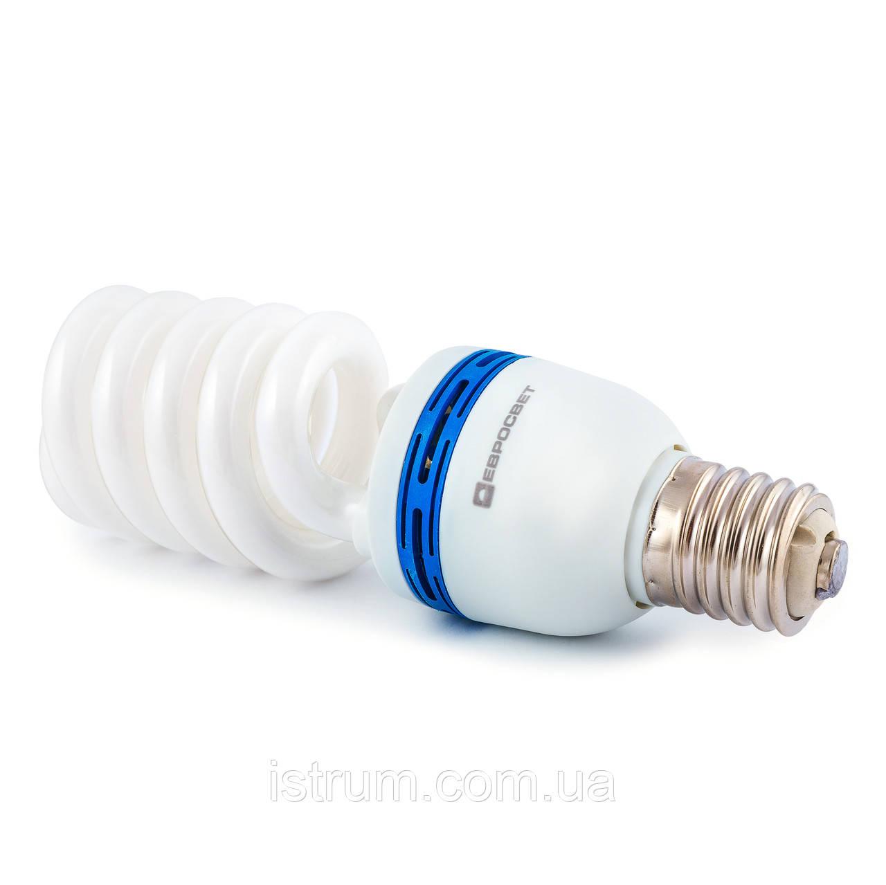 Лампа энергосберегающая 55Вт Е40 4200К (Евросвет)