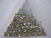 Стразы для ногтей ss8 Crystal AB 1440шт. (2.3-2.5мм)