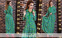 Платье в пол с ярким геометрическим принтом
