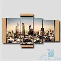 Модульная картина Квадриптих Лондон из 4 частей