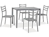 Комплект Signal Kendo (стол + 4 кресла) серый