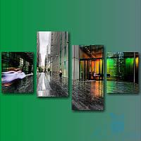 Модульная картина Лондонская улица из 4 модулей