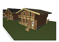 Деревянные дома для базы отдыха