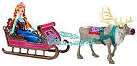 Холодное сердце Анна и олень Свен с санями Disney Frozen Anna's Sleigh Gift Set