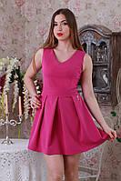 Малиновое платье с пышной юбкой