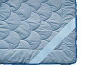 Наматрасник силиконовый антиалергенный, Голубое облако, бязь 100% хлопок (90х200 см.)