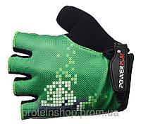Велоперчатки PowerPlay 002 Зеленый, хс