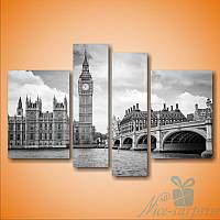 Модульная картина Небо Лондона из 4 фрагментов, фото 1