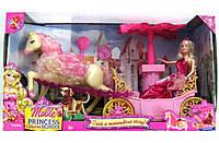 Кукла с лошадкой и каретой M8001